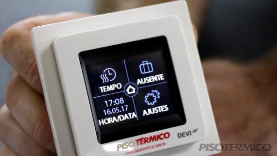 Como configurar o Termostato Touch Screen da PISO TÉRMICO?