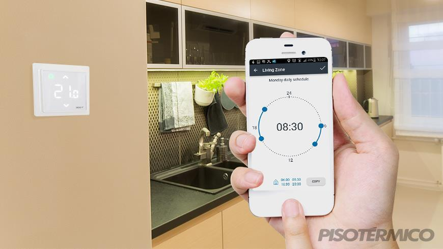 Novo termostato touch screen smart com wi-fi e app