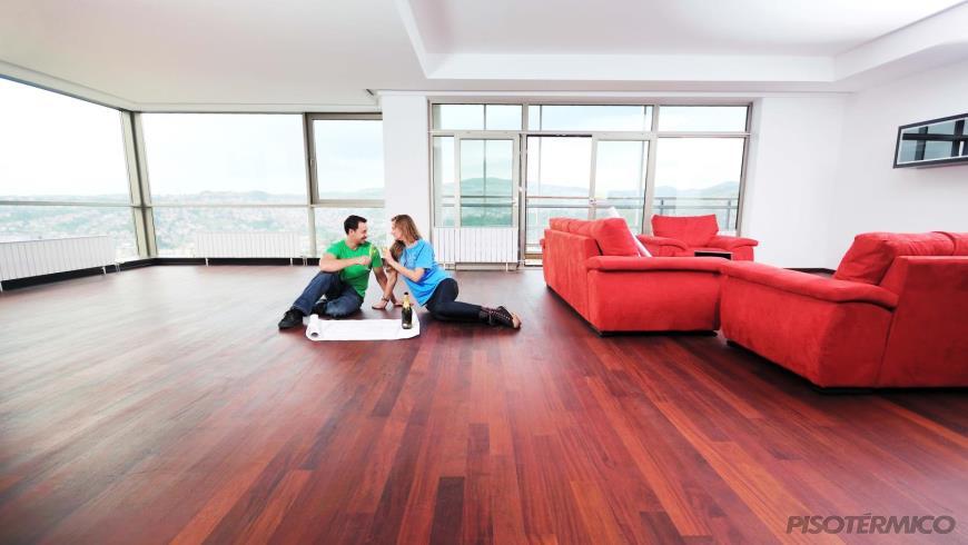 O piso aquecido lhe oferece um ambiente uniformemente aquecido