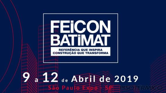 Piso Térmico presente na Feicon 2019