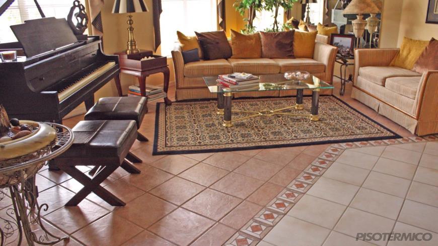 A bela decora o dos pisos cer micos piso t rmico for Pisos ceramicos para garage