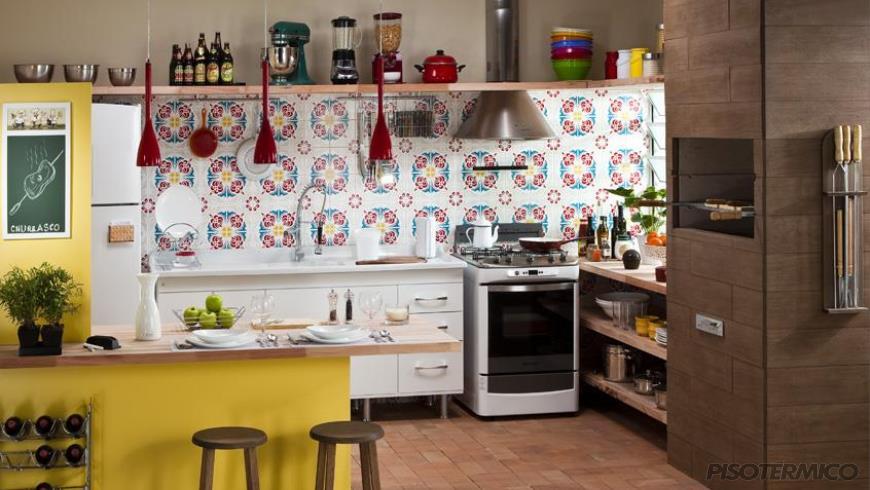 A Lajota tradicional de cerâmica ainda é uma boa escolha para o revestimento de pisos
